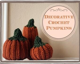Decorative Crochet Pumpkins