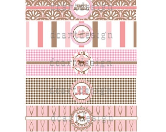 Printable Cowgirl Water Bottle Labels. INSTANT DOWNLOAD.