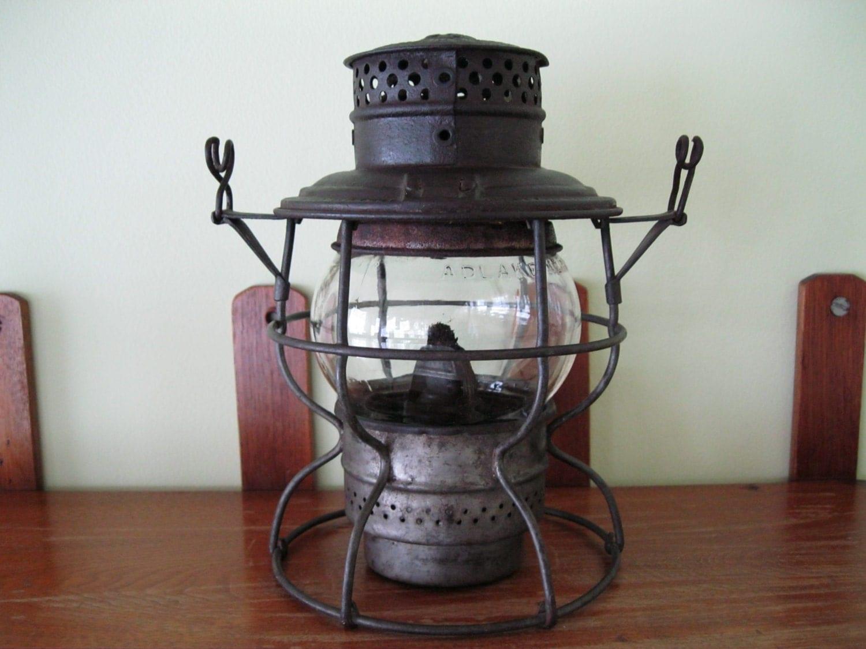 Sale: Vintage B&O Railroad Oil/ Kerosene Lantern ADLAKE