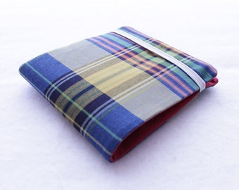 Tartan Billfold Wallet in Red, Blue, Green and Yellow