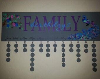 Custom painted Birthday boards, Birthday Reminder Board, Birthday Decor