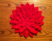 "Large 10"" x 10"" Dahlia Flower - Felt"