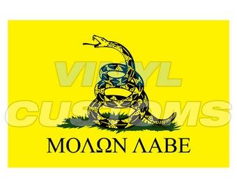 Molon Labe Gadsen Flag Vinyl Decal Sticker