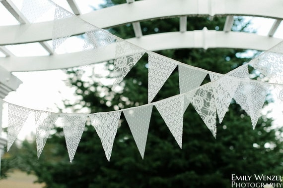 Lace Bunting Pennant Banner