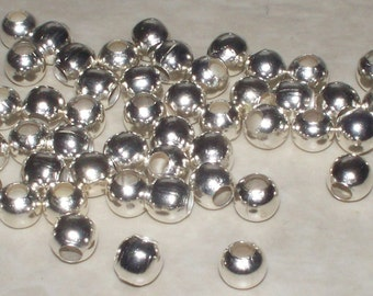 5MM Silver Plated Round Spacers