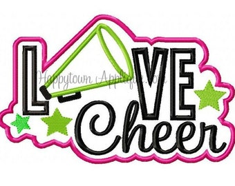 LOVE Cheer Machine Embroidery Design