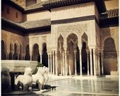 "Alhambra photography.Court of the Lions and the Fabulous Fountain.Set of 3 5""x5"" Spain,Andalucia,Muslim monument, travel photography."