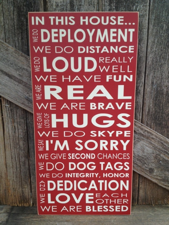 IN this House... We do DEPLOYMENT subway art home family military sign love Army Navy Air Force Marines patriotic america