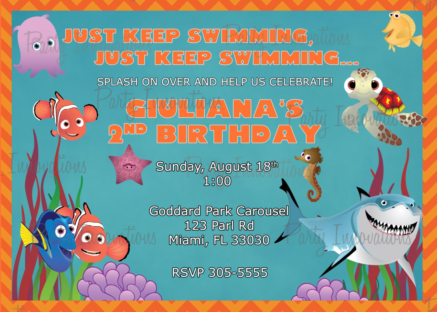 finding nemo invitations printable popular items for dory invitation