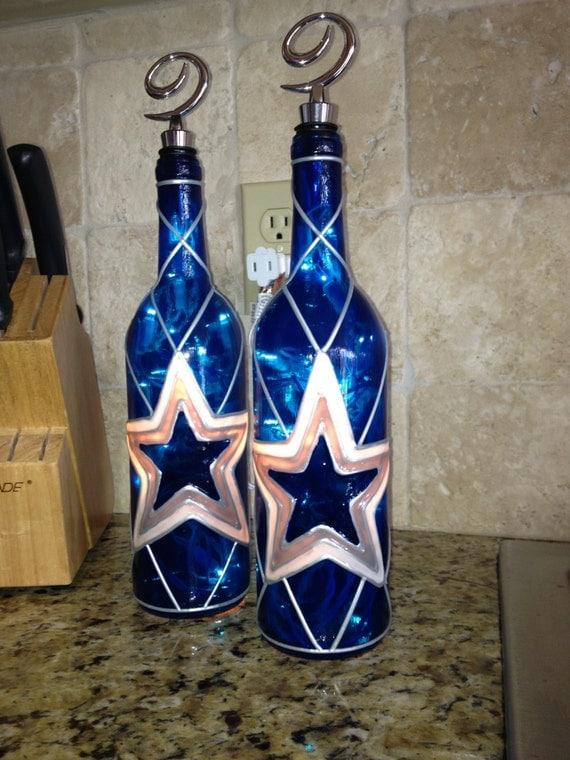 Dallas Cowboys Wine Bottle Lamp by BottleOfLights