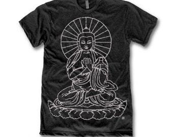 Buddha Print  Tri-Blend Men's T-Shirt.