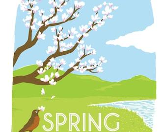 Berkshire Four Poster Spring - High Quality Digital Print