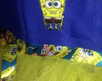 Spongebob appliqué tote