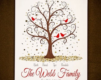 Family Tree - 8x10 - Personalized Family Tree Artwork
