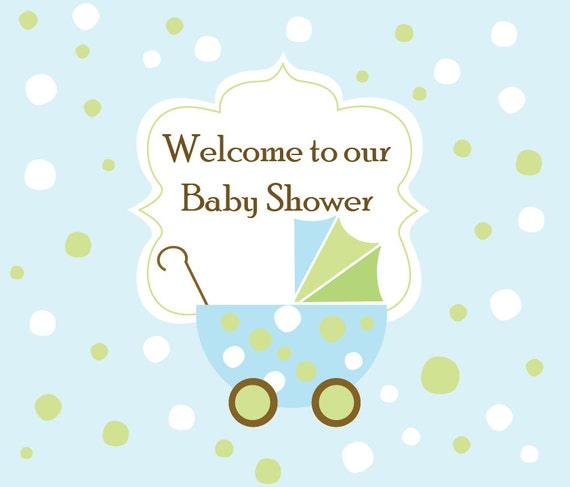 baby shower backdrop baby stroller 7 ft x 6ft feet by partysquare