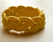 Sailor's Knot Bracelet | Sunflower Yellow Ombre | Continuous Turk's Head Knot