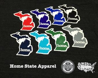 Michigan Home. Colored Vinyl Sticker