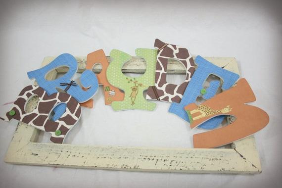 Nursery Wall Letters For Baby Boy Custom Hanging By Kenzilu
