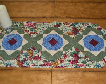 Quilted tabel runner, Autumn,