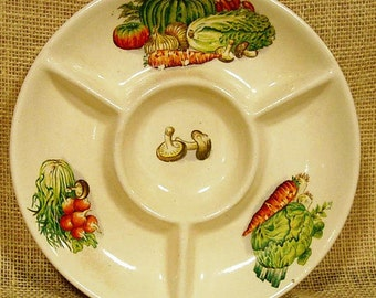 Vintage Hors d\u0027oeuvre Plate & Wooden hors d\u0027oeuvre Hors d\u0027oeuvre Vintage hors
