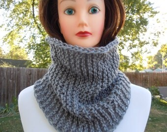 Cowl Tube scarf, Knit cowl, Accessories, Fashion, Winter, Neck warmer cowl, Knit cowl scarf