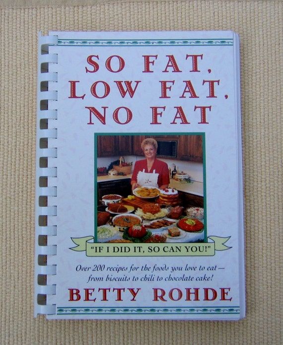 Low fat low cholesterol cook book