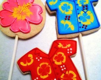 Hawaiian custom decorated cookies - 1 Dozen