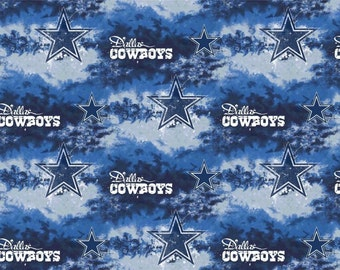 DALLAS COWBOYS NFL Cotton Fabric By The Yard Sports Team Football 100% Cotton New