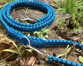 Paracord dog leash, 3 in 1 550 paracord dog leash.