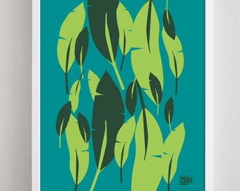Banana Leaf Art Print - 8x10
