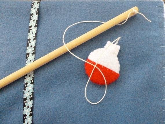 Items similar to magnetic fishing game felt fishing game for Magnetic fishing pole