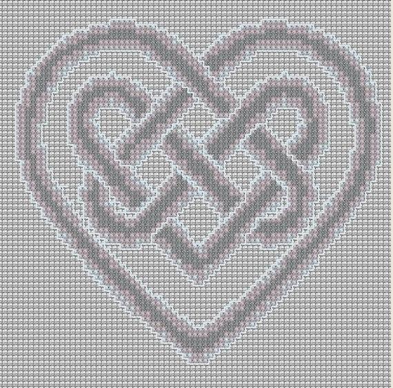 Cross Stitch Pattern Heart Knot Pdf By Perkiliciouspatterns