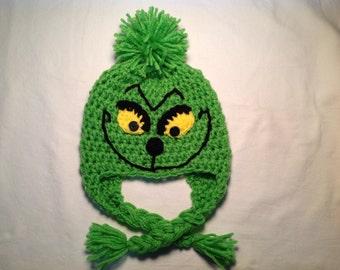 Christmas Crochet Hat: Grinch