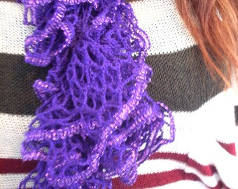 Purpley metalic Ruffle Scarf