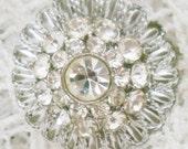 Vintage diamante brooch. Approx 1960.
