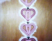 Love Heart Wall Hanging Needlepoint Plastic Canvas