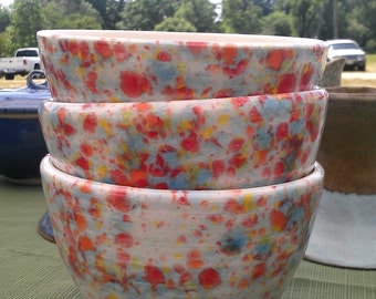 Pottery Cereal Bowls clay handmade