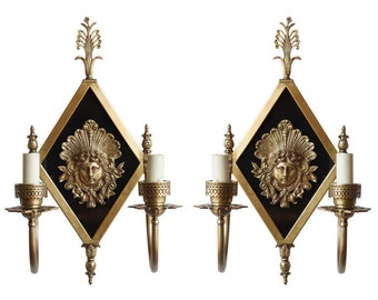 Early 20th Century Neoclassical Bronze 2-Arm Sconce