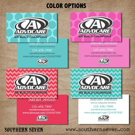 Advocare Fun Business Card design Full Color by SouthernSeven