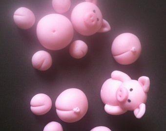 Kitkat Cake Pigs Fondant pigs/12 pieces/