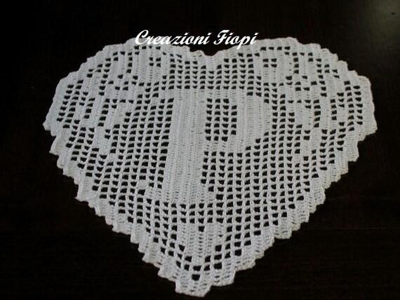 pattern hand crochet heart monogram letter p