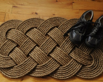 Nautical Decor -  Front Door -  Welcome - Rope Rug (38 x 19)