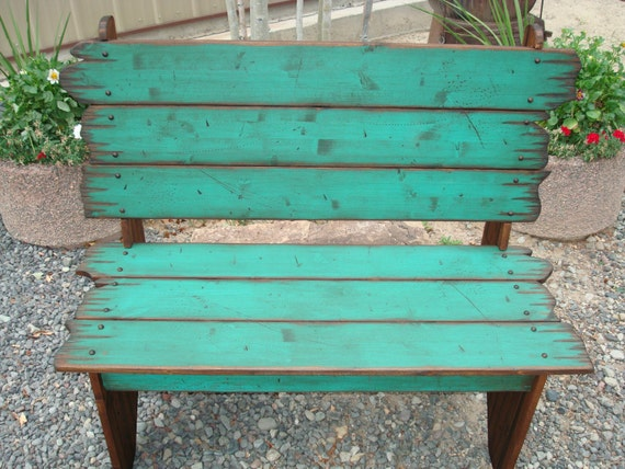 Rustic Wood Bench : Wood Barn Wood Bench, Bench, Western Bench, Rustic Bench