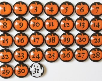 Number Magnets - Halloween!