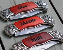 Popular Items For Engraved Knives On Etsy