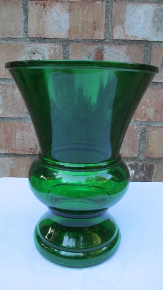 antique napco green glass vase vintage 40s 50s. Black Bedroom Furniture Sets. Home Design Ideas