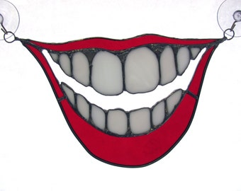 Big smile stained glass suncatcher