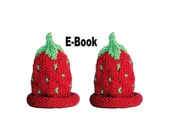 Knitting pattern eBook egg Strawberry