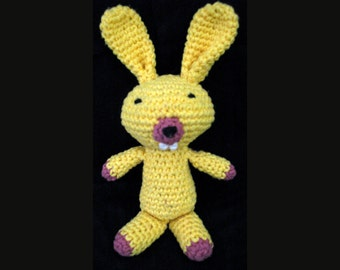 Amigurumi Lavender Bunny, filled with organic lavender in belly for a subtle relaxing smell