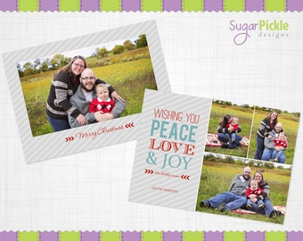 Christmas Card Template, Holiday Card Template, PSD, Photographer template, Christmas Template
